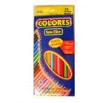 Set 12 creioane colorate New Elite Colores