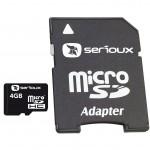 Card microSDHC 4GB SERIOUX