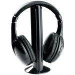 Casti audio i-JMB, tip DJ, microfon, wireless, banda reglabila, negru
