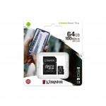 Card de memorie MicroSD Kingston Canvas Select Plus, 64GB, 100MB/s, cu adaptor