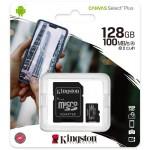 Card de memorie MicroSD Kingston Canvas Select Plus, 128GB, 100MB/s, cu adaptor
