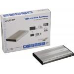 "RACK EXTERN 2.5"" LOGILINK USB2.0/IDE, Alu, silver,"