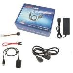 Convertor USB2.0 pentru HDD IDE/SATA + alimentator 2A + cablu alimentare 1.2m de la 230V AC