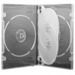 Carcasa CD/DVD 4 Disk-uri (alb)