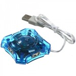 USB Hub 4 Ports (Transparent)