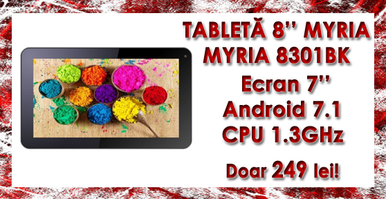 TABLETA 7'' MYRIA MY8301BK